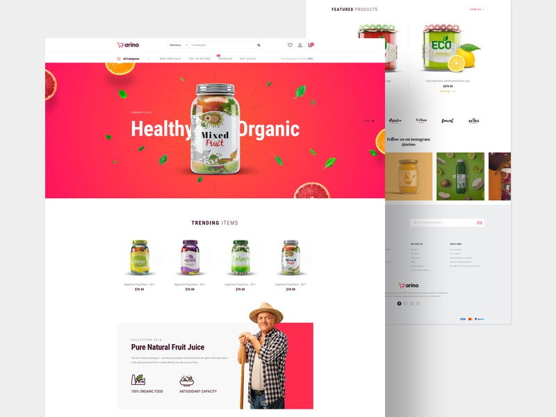 Arino - Joomla eCommerce Template shopping joomshaper joomla furniture electronic ecommerce cart cms business