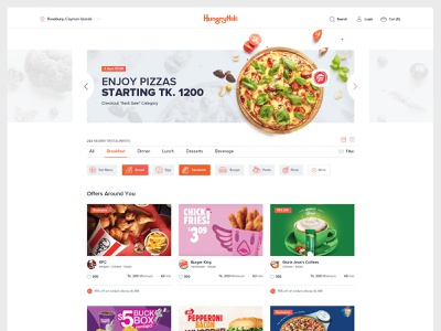 hungrynaki - Online Food Delivery Service fast food burger pizza hungry online store foodie service delivery food and drink food app food website clean minimal creative design ui  ux uidesign ui