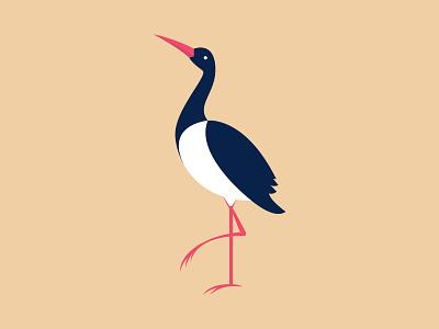 Stork stork vintage logo vintage retro logo logotype design retro illustration old style design branding logo illustrator vector
