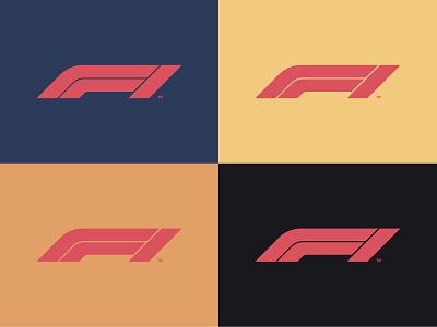 Pattern F1 (Redesign) formula1 redesign vinatge retro logo logotype design illustration retro old style design logo branding illustrator vector