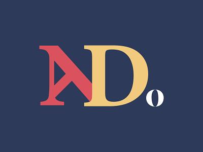 NaDo logomark retro logo logotype design illustration retro design old style logo branding illustrator vector