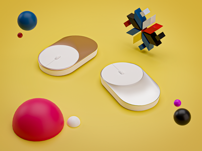 Xiaomi mause modeling design graphic xiaomi mause illustration c4d blender3d blender 3d art 3d