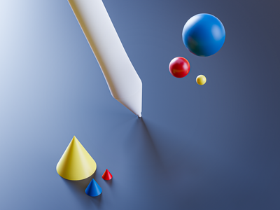 Pen pen graphic render 3d illustration 3d cinema4d c4d blender3dart blender3d blender ux ui 3dart design illustration