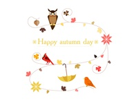 Happy autumn day (White)