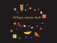 Happy autumn day (Black)
