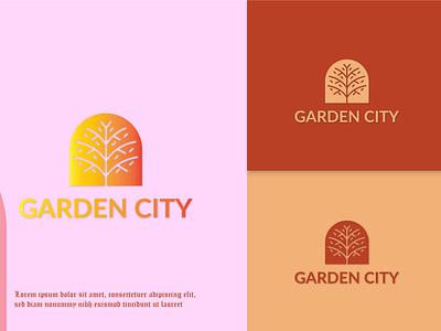 Garden City Logo animation ui motion graphics graphic design 3d branding logo