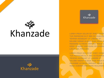 Khanzade (Logo) graphic design business card designs branding cosmetics logo logo design fashion logo
