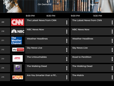 Smart TV App Daily UI part 2 dailyui