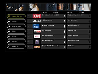 Smart TV app DailyUI smart tv app dailyui