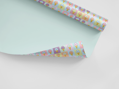 Ice Cream Gift Wrap pattern pastels cute wrapping paper gift wrap branding illustration visual design visual