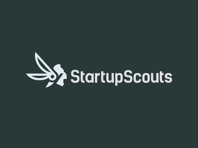 Scouting startup logo concept