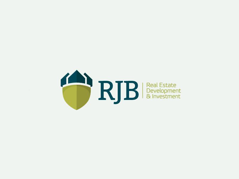 Real Estate & Property invesment logo concept nordic geometric long shadow flat design real estate art direction branding logo design logo concept