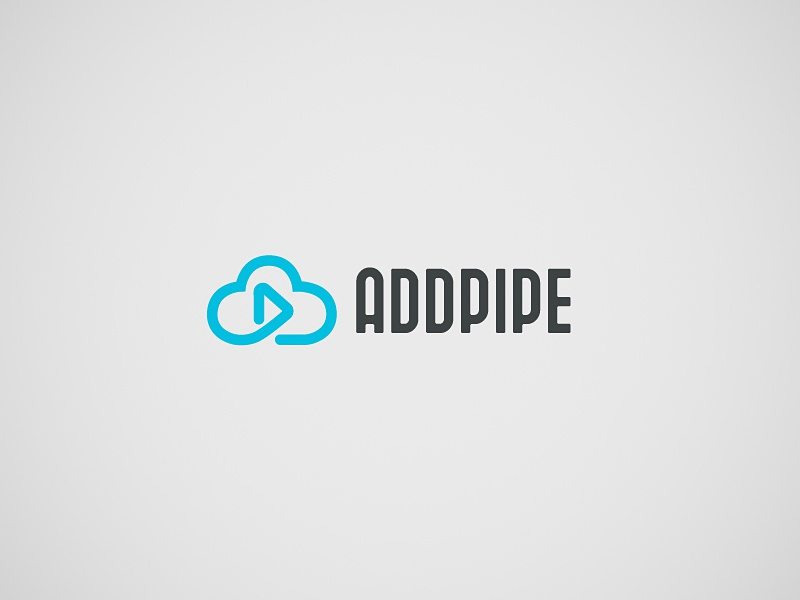 Logo design for a video cloud streaming application storage play cloud branding art direction logo concept logo design