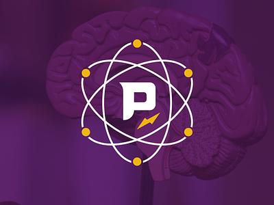 Proton Elementary logo atom proton education elementary branding