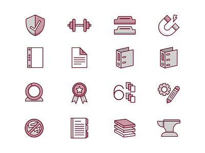 Bindertek Icons office organization binder icons icon set office supplies
