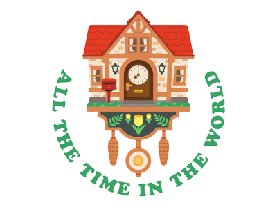 All the Time in ACNH clock illustration cuckoo clock acnh animal crossing
