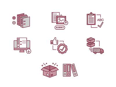 Custom Binders icon binder icon design infographic office supplies custom