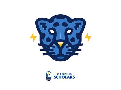 Memphis Scholars Jaguar school scholar mascot design mascot mark education logo illustration education jaguar
