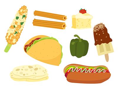 Mexican Food illustration food illustration nutrition food taco mexican food