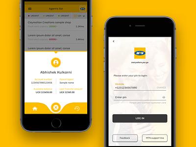 Login and Mini Profile design ux login form ui profile app login
