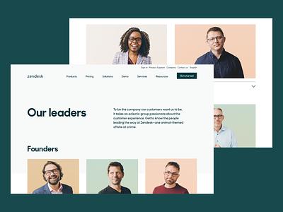 Zendesk Management Team design photography webdesign web graphic design