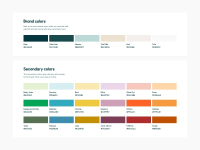 Zendesk Brand Color Palette branding brand identity brand design palette color graphic design