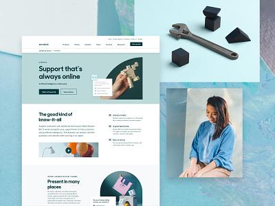 Zendesk Capabilities Bots and Help Center graphic design web design branding