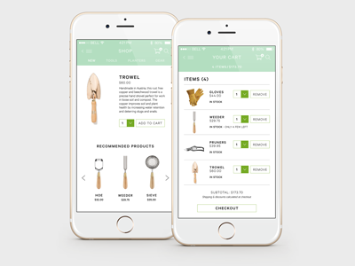 Greenhouse Shop ui ux mobile app iphone mobile app iphone app graphic design
