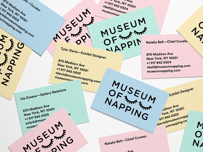 Museum of Napping visual identity branding