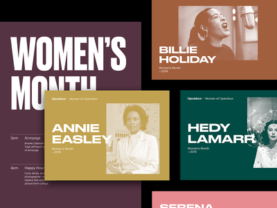 Women's Month typography colorful graphic design branding women empowerment history women