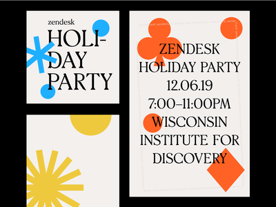 Zendesk Holiday Party 2019 graphic graphic design typogaphy brand design poster event