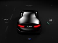 AUTO mode activated navigation travel trip vehicle concept cinema4d futuristic cyberpunk car minimal render 3d c4d autonomous car automotive design ui