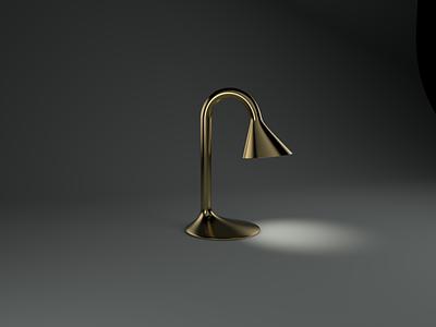 brassy boy table lamp brass metal 3d rendering 3d modeling lighting fixture c4d