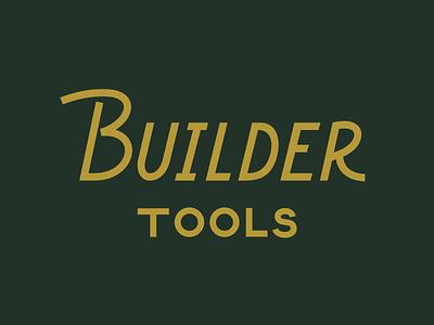 Builder Tools management construction figma vector design realestate home renovation identity branding design logo custom type