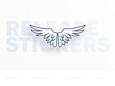 Release Sticker — Wings! 💸