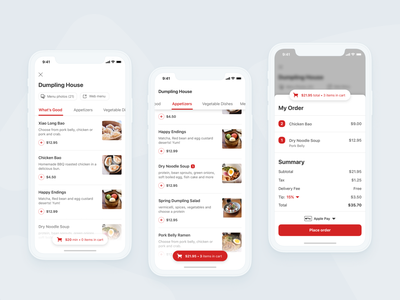 More delivery explorations! 🥡 sketch product design order uxd apple pay checkout cart menu yelp delivery mobile ios design ui