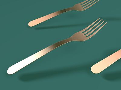 Fork You 🍴 3d modeling render industrial design c4d fork 3d ae