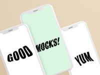 Phone mocks