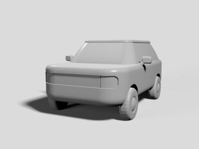 work in progress 3D Suv model