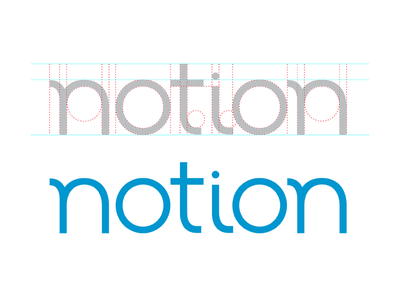 Notion Logo logo design kickstarter internet of things connected devices smart home branding art direction photoshop illustrator
