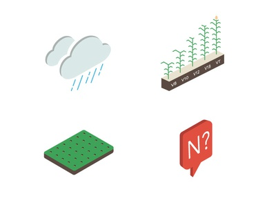 Nitrogen Booklet Icons isometric farming fields weather corn nitrogen iconography icons agtech agriculture farmlogs