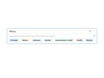Suggested keywords search bar idea