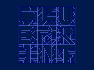 Team Branding, Geometric Blueprint Artwork blue purple design systems design system blueprints blueprint geometric illustration lines