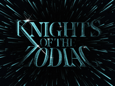 Knights Of The Zodiac logo product experiment typography cover font type illustration simple design