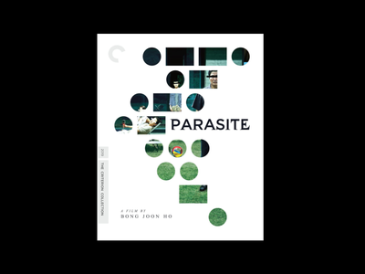 Parasite for The Criterion Collection logo product experiment cover font type illustration simple design typography