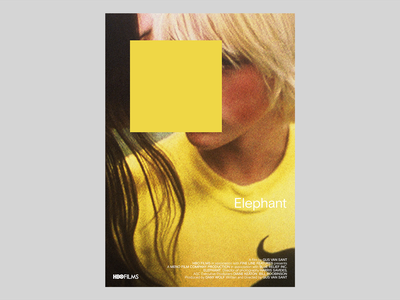 Elephant by Gus Van Sant poster a day movie poster branding film cover font type simple design