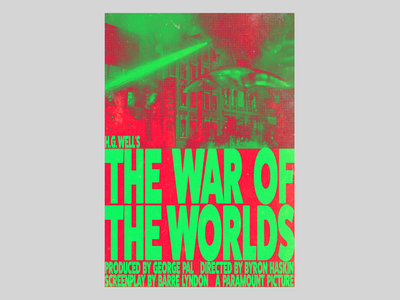 The War of the Worlds 1953 poster branding film typography cover type font illustration simple design