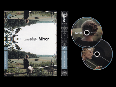 Mirror - The Criterion Collection logo type font typography branding movie disc dvd packaging poster cover film design