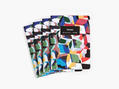 WeWork X SQSP Notebook notebook branding product experiment cover font type illustration simple design