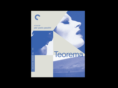 Teorema by Pier Paolo Pasolini bluray film criterion movie product experiment cover illustration simple design